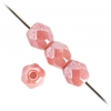 Fire Polished 4mm Opaque Pink Luster